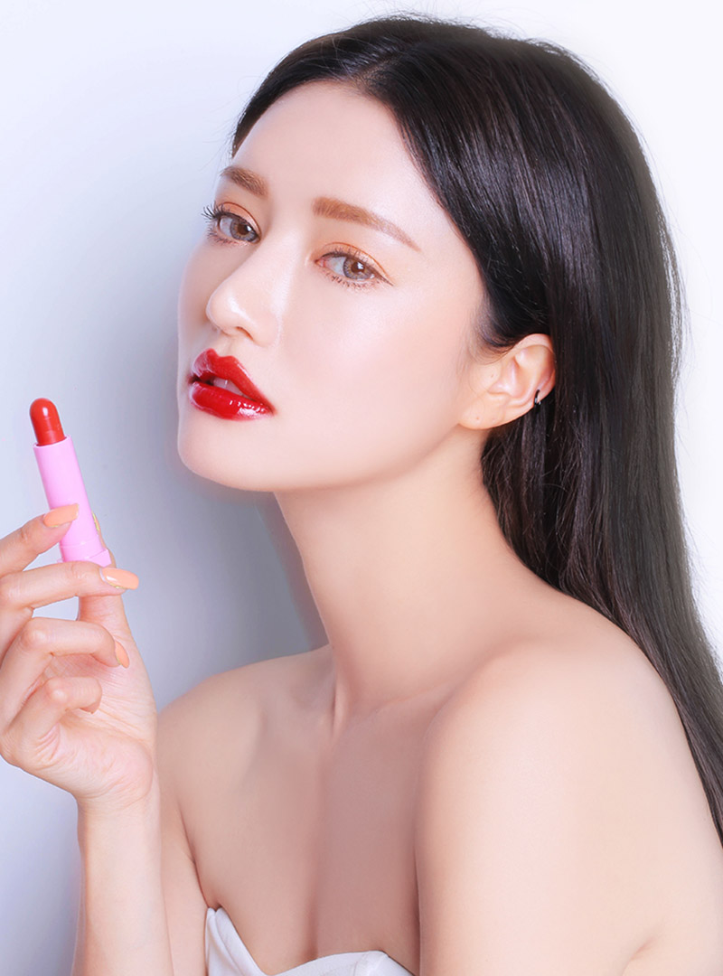 LOVE 3CE GLOSSY LIP STICK #RED MUSE